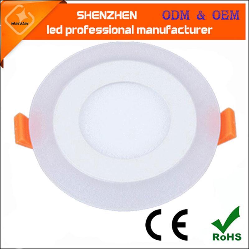 Recessed LED 패널 조명 라운드 더블 컬러 LED 천장 통 광장 회수 실내 탑 조명