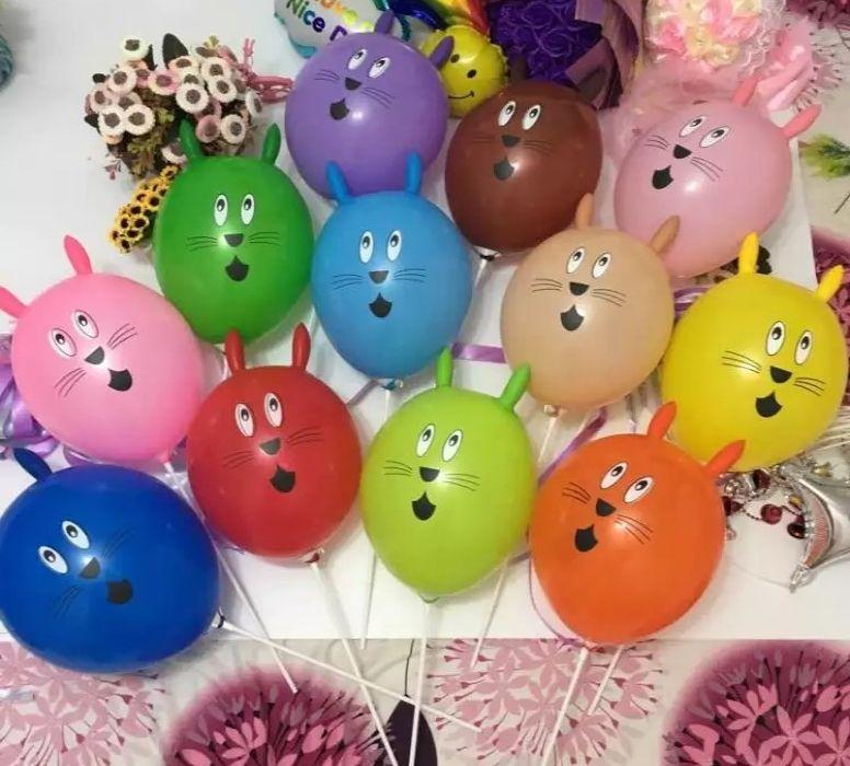 2016 new mickey shape rabbit latex balloons animal balloons with
