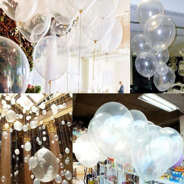 1 saco Limpar Balões de Látex Pérola Transparente Rodada Balão Festa de Aniversário de Casamento Aniversário Decoração 12 polegada 1 saco = 100 pcs novo