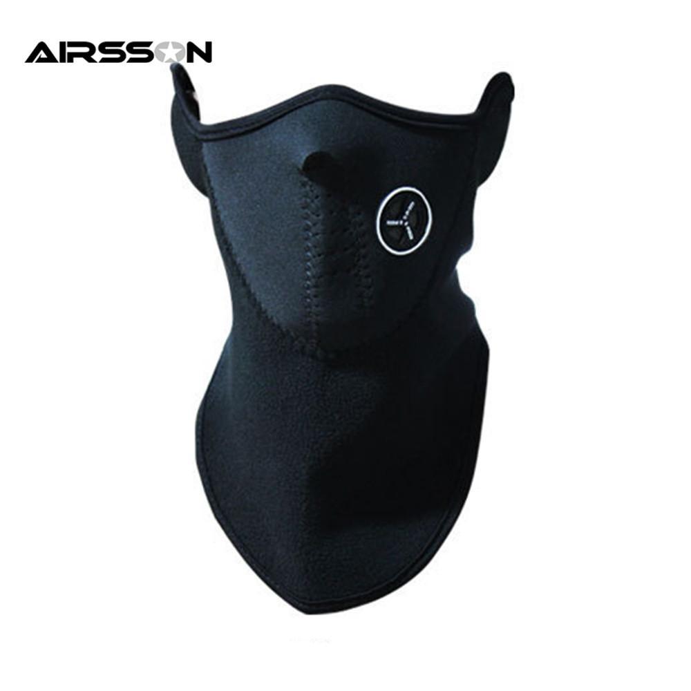 Airsoft Теплый флис наполовину лицо маска крышка лицом к капюшону лыжные велосипедные спорты открытый зима теплая шеи охрана шарф тепловая маска