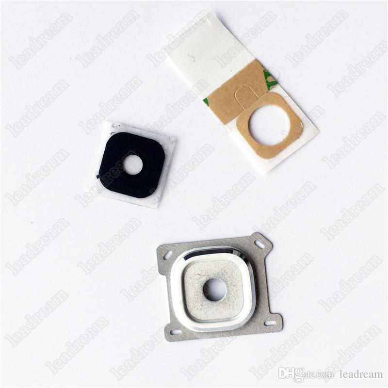 Cubierta de lente de vidrio de cámara 100PCS para Samsung Galaxy E5 E7 J1 J2 J3 2016 J5 2016 J7 2016 Pieza de repuesto gratis DHL