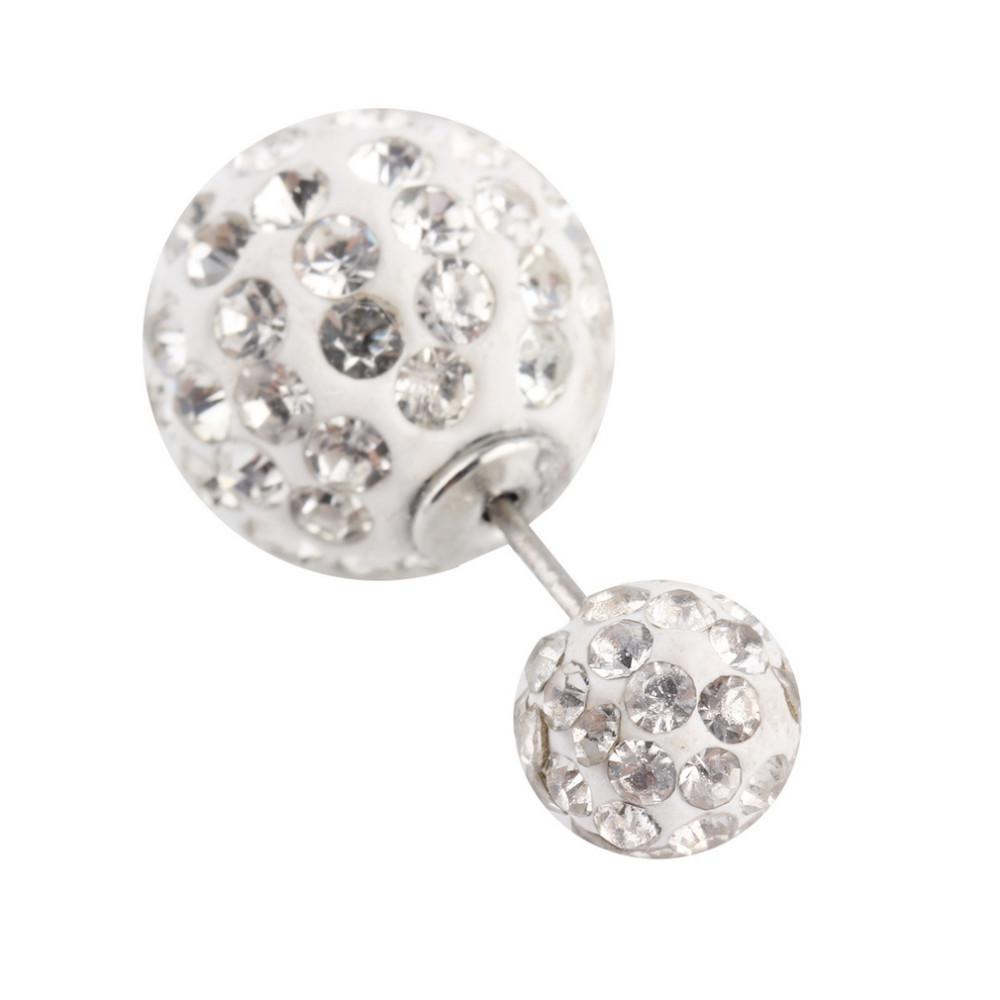 Wholesale At Dhgate For A Stylish Earrings Type 1 Pair Celebrity  Women's Screw Double Pearl Beads Rhinestone Dualuse Ear Studs Plug Earrings  Pin Big