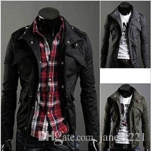 4XL Spesso Jean Mens Jackets Blazer Cappotti Camicie cotone di inverno della tuta sportiva sottile casuale di misura della chiusura lampo del rivestimento del cappotto vintage Jumper Jacket J161037