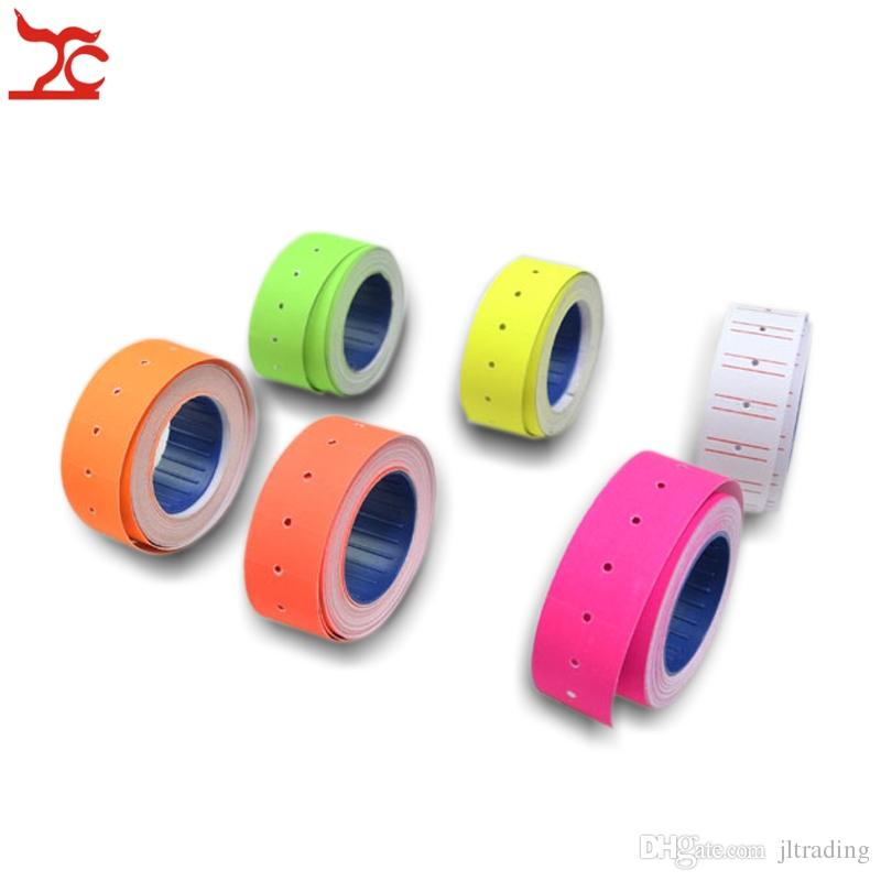 Jewelry Display Jewelry packaging 10 Rolls 4000 pieces orange colorful priceTags Label for MX-5500 GUNS REFILL Wholesale Free Shipping