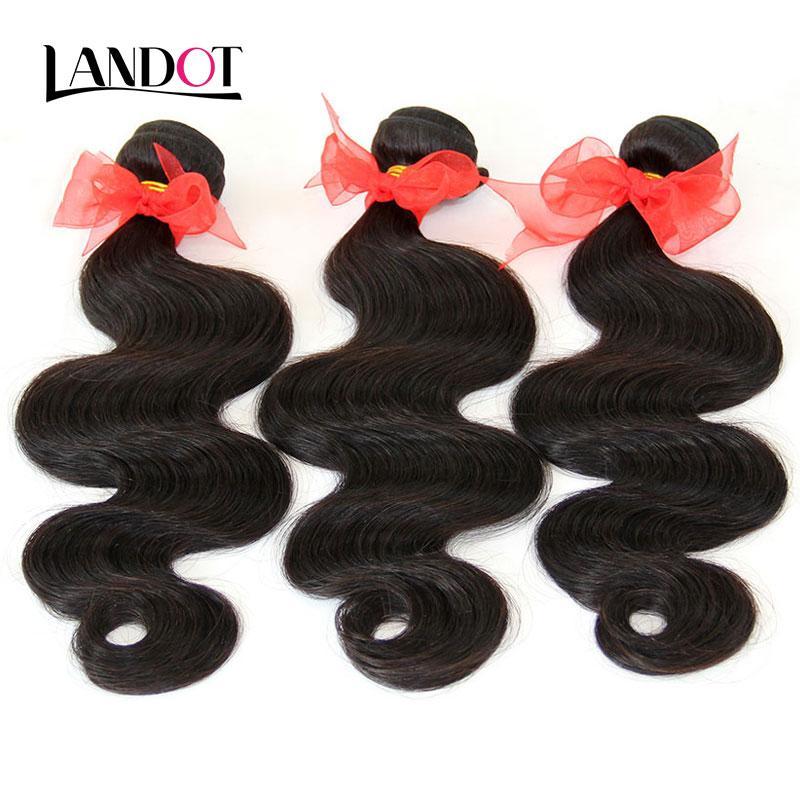 브라질 머리카락 인간의 머리카락 번들 번들 100 % 브라질 야생 바디 웨이브 머리카락 3 개 로트 Brazillian 머리카락 확장 내추럴 컬러 Dyeable