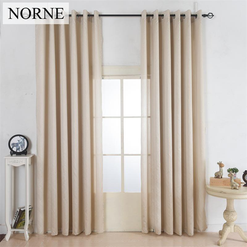 NORNE Faux Silk Window Curtains Light Softly Filtering Drapes for Living Room Dividers Bedroom Privacy Home Decorative curtain