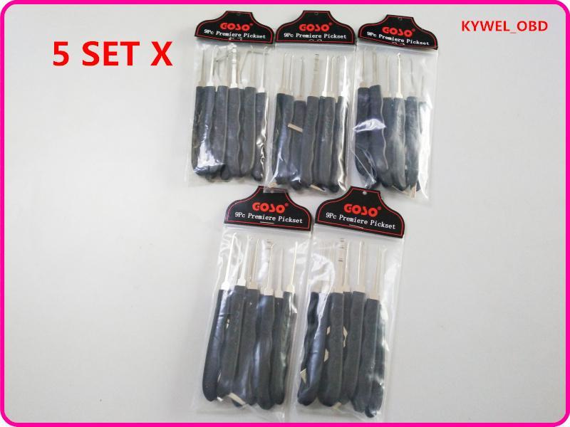 5 Set / Lot Hot vente prix spécial meilleure qualité 9 pcs verrouiller l'outil de sélection d'extracteur de verrouillage de verrouillage outils de cueillette pour le serrurier