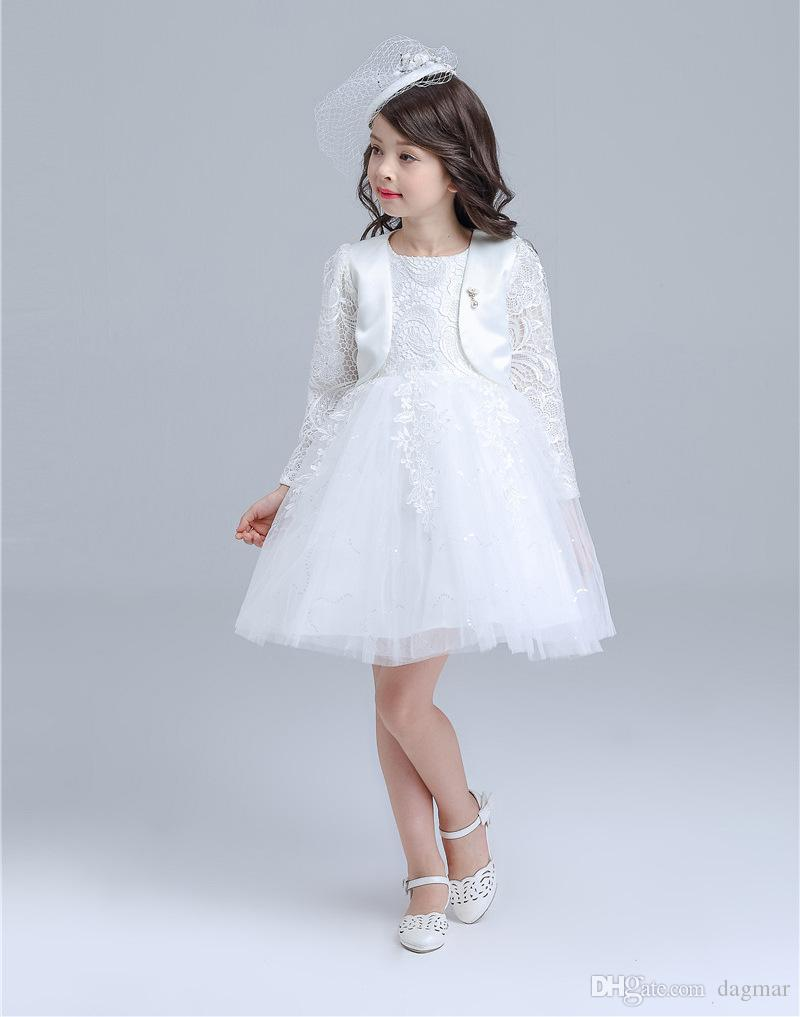 Hot Sales Fashion Style Children Wedding Dress Two Colors Princess ...