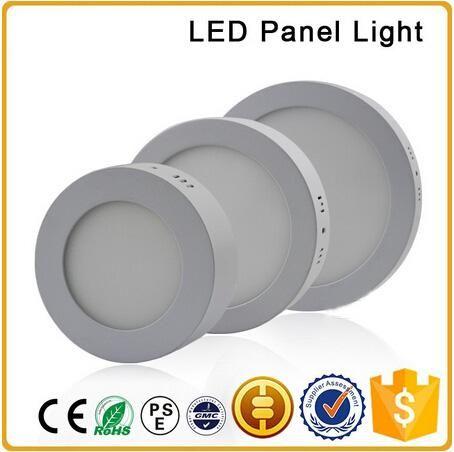 LED panneau lumineux monté sur la surface 6W 12W 18W AC85-265V LED SMD 2835 ronde côté spot avec de l'aluminium et de la plaque de guidage de lumière acrylique