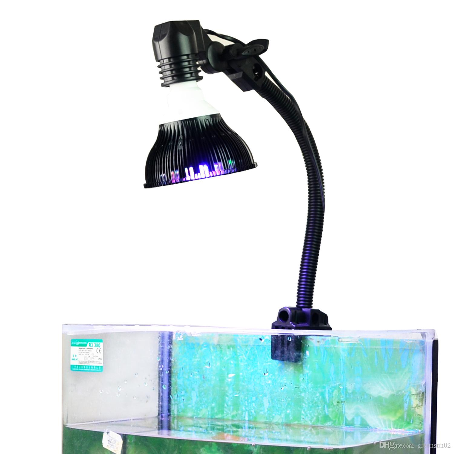 Nano led aquarium fish tank lighting - 2017 12 Led Reef Light Par38 Small Nano Tank Light With Gooseneck Clamp 12w E27 Base Full Spectrum Colors From Greensun02 57 17 Dhgate Com