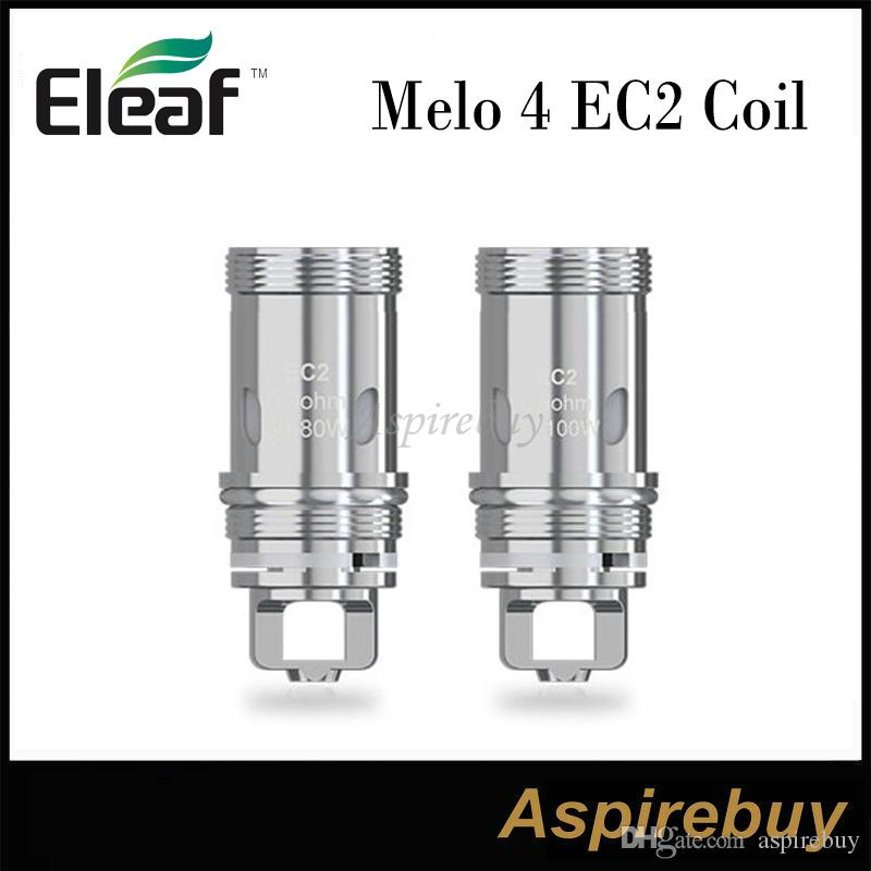 Eleaf MELO 4 EC2 bobine EC2 0.3ohm EC2 0,5 ohm sostituzione del tubo bobine di vetro per Eleaf Melo 4 D22 D25 Serbatoio per Eleaf iKuun Kit 100% originale