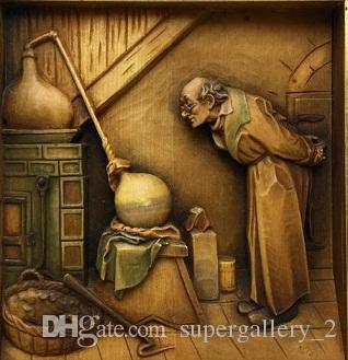 L'alchimista dipinto ad olio artistico a mano sulla qualità del museo di tela Qualità Qualsiasi dimensione coustomizzata disponibile