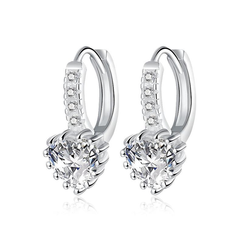 Il regalo caldo di cerimonia nuziale dei monili di modo degli orecchini della vite prigioniera del diamante dell'argento sterlina del cuore dell'argento sterlina 925 per la donna Trasporto libero di qualità superiore