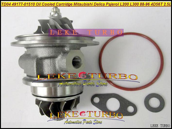 TD04-09B 49177-01510 Oil Cooled Turbocharger Cartridge Turbo Chra Core Mitsubishi Delica Pajero I L200 L300 1988-96 4D56T 2.5L (3)