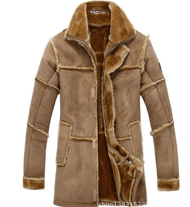 winter Fall-Flight Pilot Jacket Coat Men Imitation deerskin air force pilot jacket casual warm outdoors thick outwear coats jackets for men