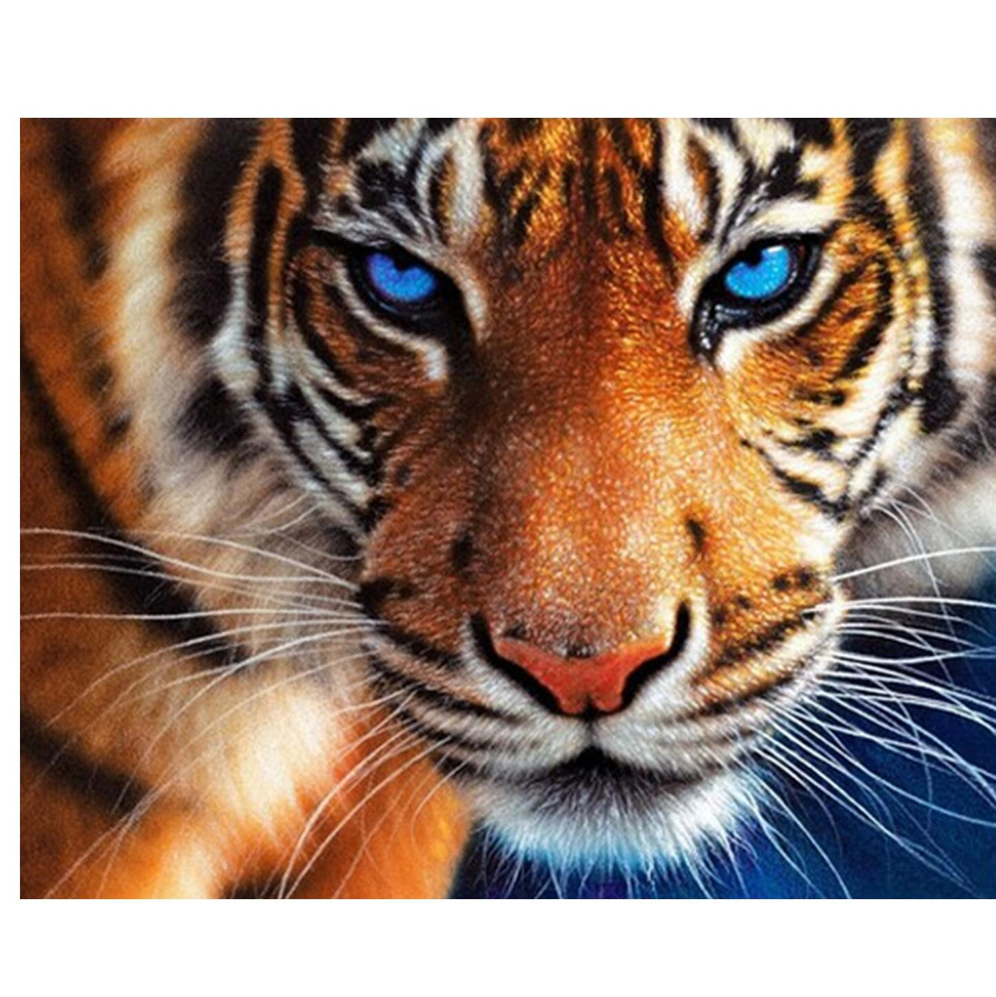 DIY Diamant Stickerei Der wilde Tiger Cross Stitch Rhinestone klebte Malerei Home Decor beste Geschenk 50x40cm HWB-541