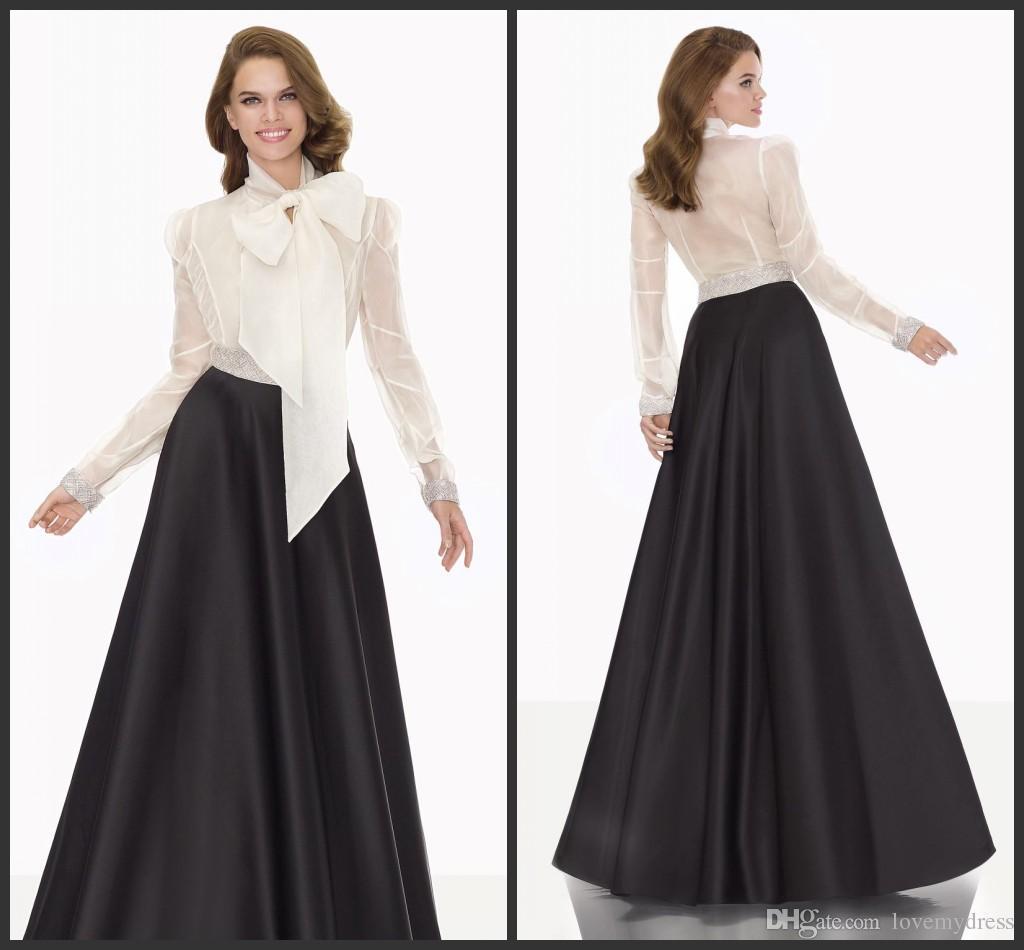 Cheap Elegant Evening Dresses Black Satin Floor Length T Shirt ...