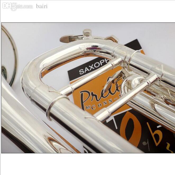 도매 수석 프랑스 바흐 실버 도금 바흐 트럼펫 LT-180S-43 작은 황동 악기 Trompeta 전문 고급.