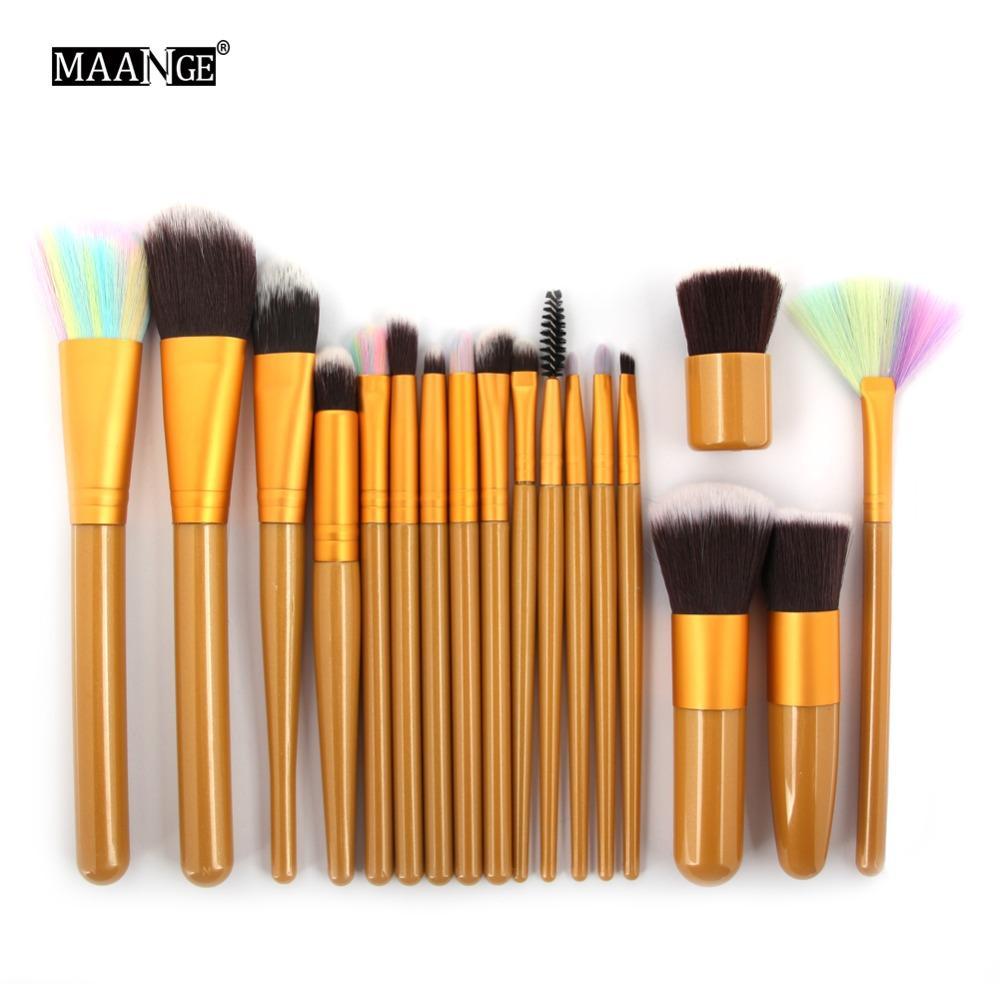 Pro Blush Foundation Power Contour Eye shadow Eyeliner Lip Blending Highlight Brushes Cosmetic Beauty Tool 18pcs Makeup Brush Set
