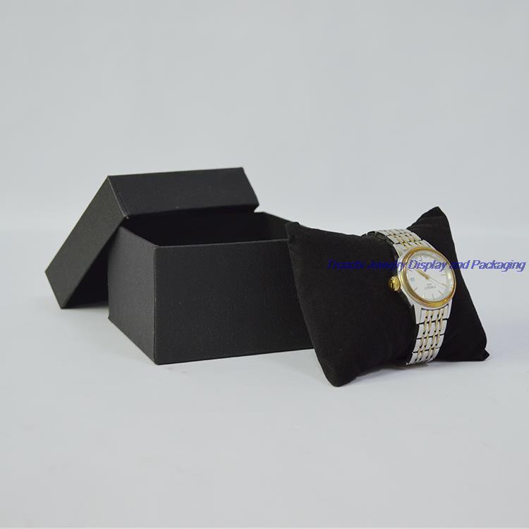 5 unids Joyero y Caja de Almacenamiento de Reloj de Regalo de Embalaje con Terciopelo Negro Almohada Cojín Soporte de Exhibición de la Pulsera Envío gratis