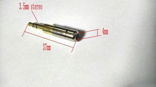 20pcs cuivre plaqué or 3,5 mm fiche stéréo jack audio prise mâle à souder