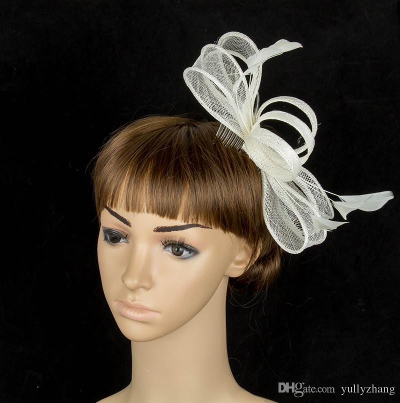17colors livraison gratuite avaliable chapeaux sinamay, coiffure femmes de soirée de mariage fascinateur belle accessoires pour cheveux fascinateur, 6pieces / lot, MYQ027