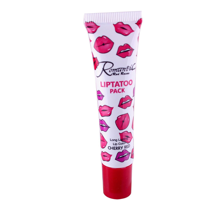 2016 Più nuovo Romantico Liptatoo Pack 6 Colori Lip Gloss Lipstick Peel-Off Duras Marine Collagen Lipstick Balsam Balsami Lip Gloss DHL Gloss DHL