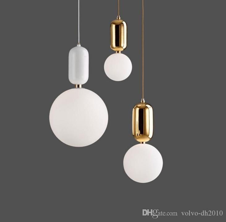 Moderne glaskolben, pendelleuchte, einkopf glas pendelleuchte, kugel pendelleuchte, lampendurchmesser 15 cm / 20 cm / 25 cm LLFA