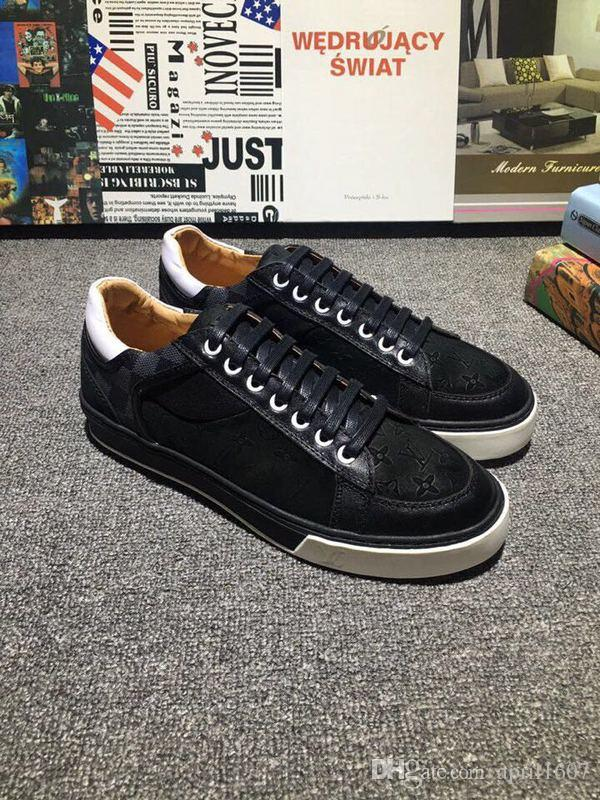 L V Suede Casual Shoes