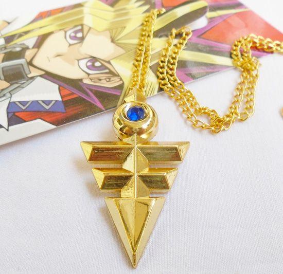Yugioh porte-clés collier bijoux pendentif dessin animé animation périphérique jeu Yugioh (TWO)