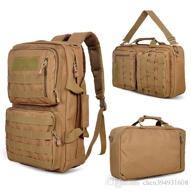 "Hot Sale School 14"" Laptop Bag Unisex Outdoor Military Tactical Backpack Camping Hiking Bag Trekking Sport Rucksacks knapsack"