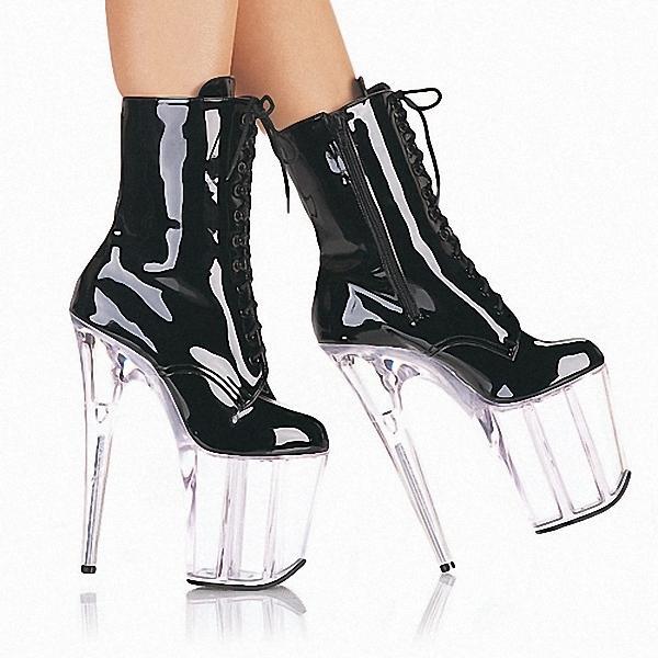 Personalizza scarpe tacco a spillo tacco alto 18cm tacco alto in pelle con plateau donna