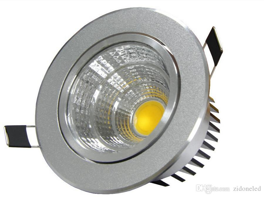 Spot encastrable LED Downlight COB Downlight 6W / 9W / 12W / 15W Argent Plafonnier Blanc froid AC85-265V