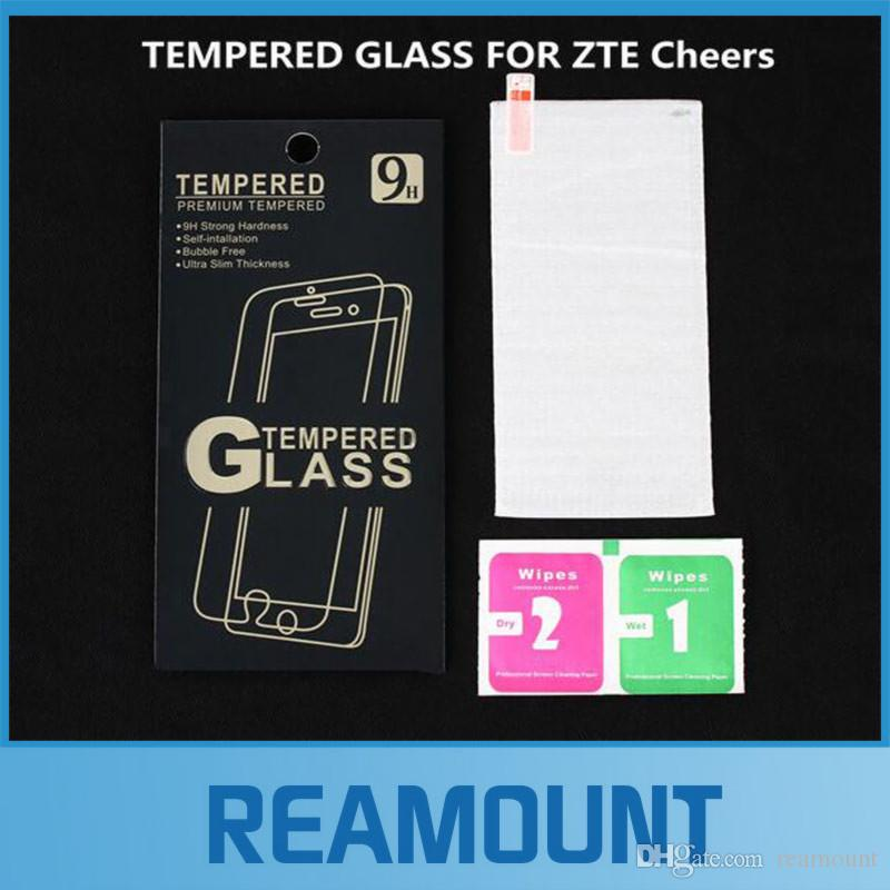 200PCS 0.26mm High Clear LCD Front Explosion-proof Tempered Glass Film for ZTE Cheers Screen Protector