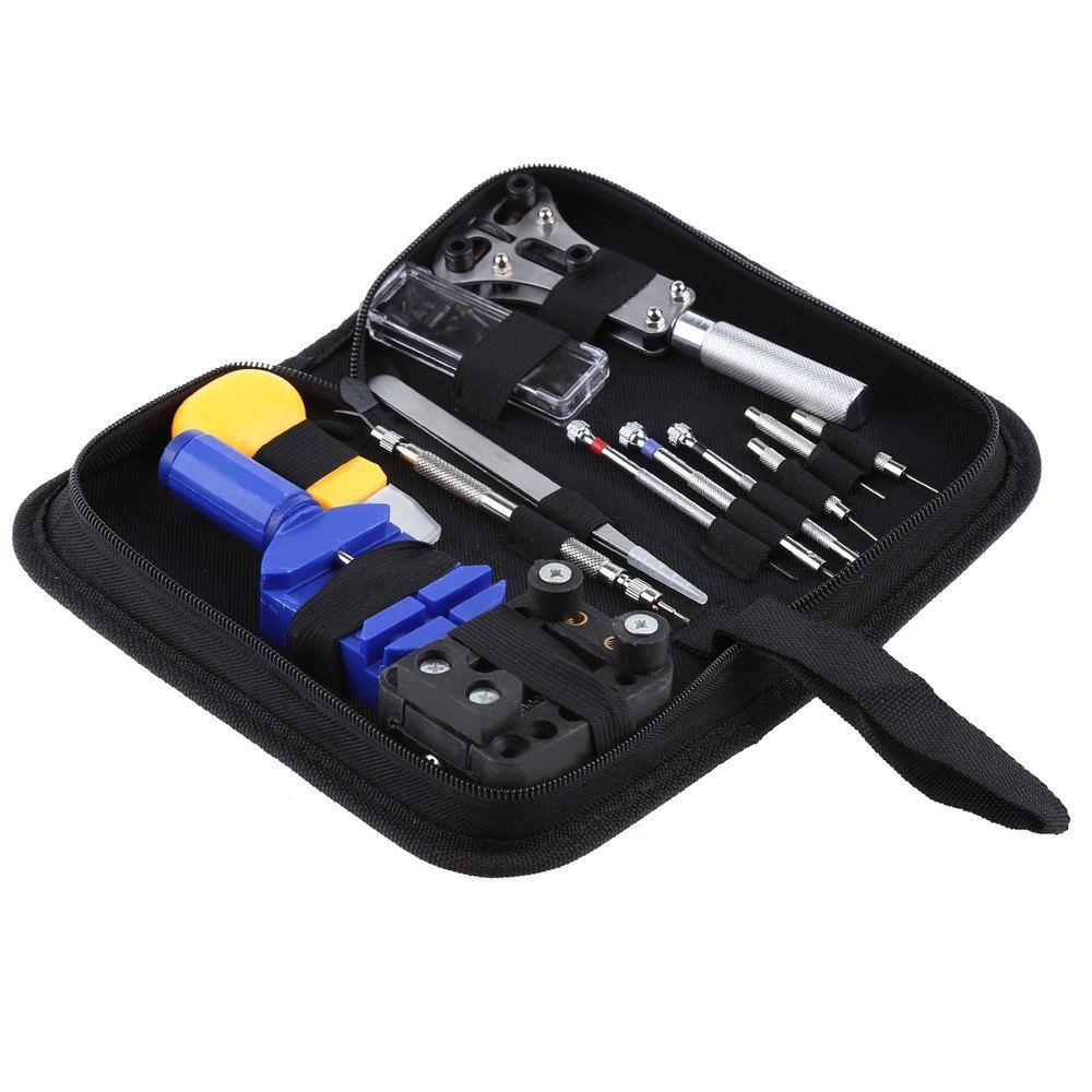Gros-Vente chaude 13 Pcs Montre Outils de Réparation Portable Wrist Watch Repair Tool Set Outils Professionnels Pour Horloge Ajusteur Opener