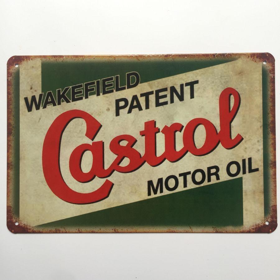 Castrol Motor Oil Rétro Vintage Metal Tin affiche affiche pour Man Cave Garage sticker shabby chic Cafe Bar décor à la maison