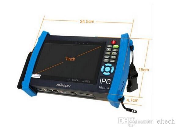 IPC8600 7 inch touch wifi screen, IP+ Analog+HD Coaxial Tester TVI CVI AHD SDI Tetser Built-in WIFI IPC-8600 support onvfi poe