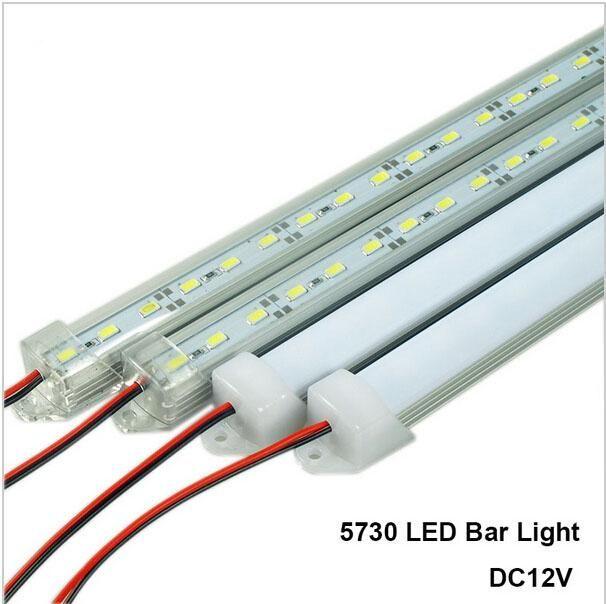 أضواء LED شريط DC12V 5730 LED أنبوب الشريط الصلبة LED مع U الألومنيوم قذيفة + غطاء PC أبيض دافئ أبيض بارد الأبيض