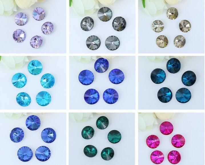200 pcs 10mm Contas De Vidro De Cristal Apontou Inferior Para Sapatos De Casamento De Costura Saco Fascinator Jóias Diy Artesanato