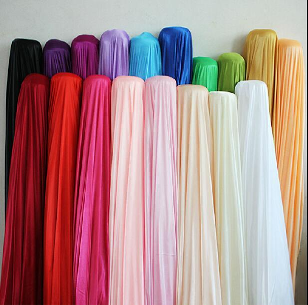 الحرير خلفية النسيج الزفاف ستارة العرض 150CM / 59inch الحرير نسيج ديكور لون الصلبة القماش / الأداء الملابس أقمشة الملابس