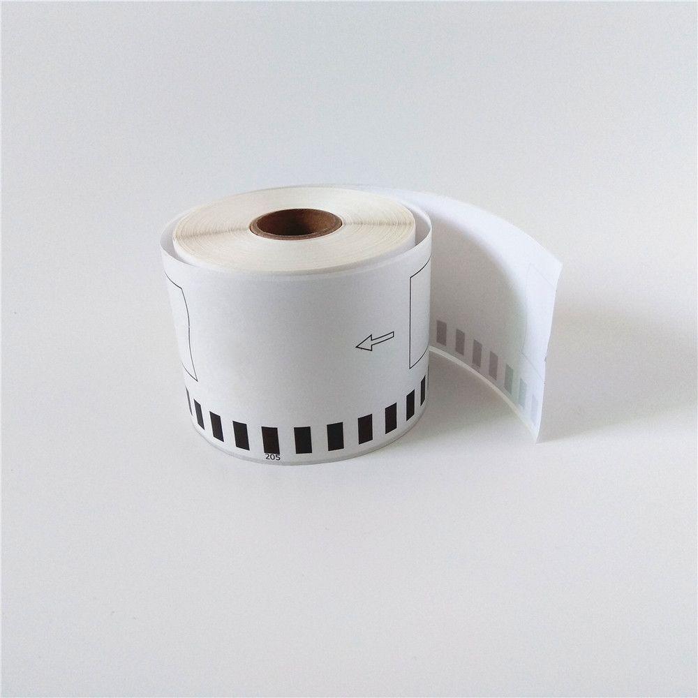 50 x Rolls Brother DK 22205 DK-22205 DK22205 DK 2205 DK-2205 DK2205 Kompatibla termiska etiketter 62mm x 30,48m