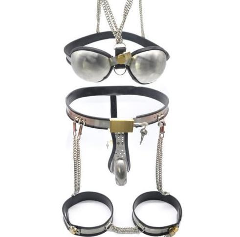 New quality Fast bdsm e Male Fully Adjustable Model-T Stainless Steel Chastity Belt