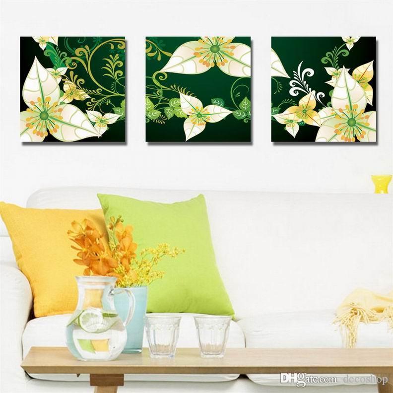 Moderna Bela Flor Fina Pintura Floral Giclee Impressão Na Lona Home Decor Wall Art Set30369