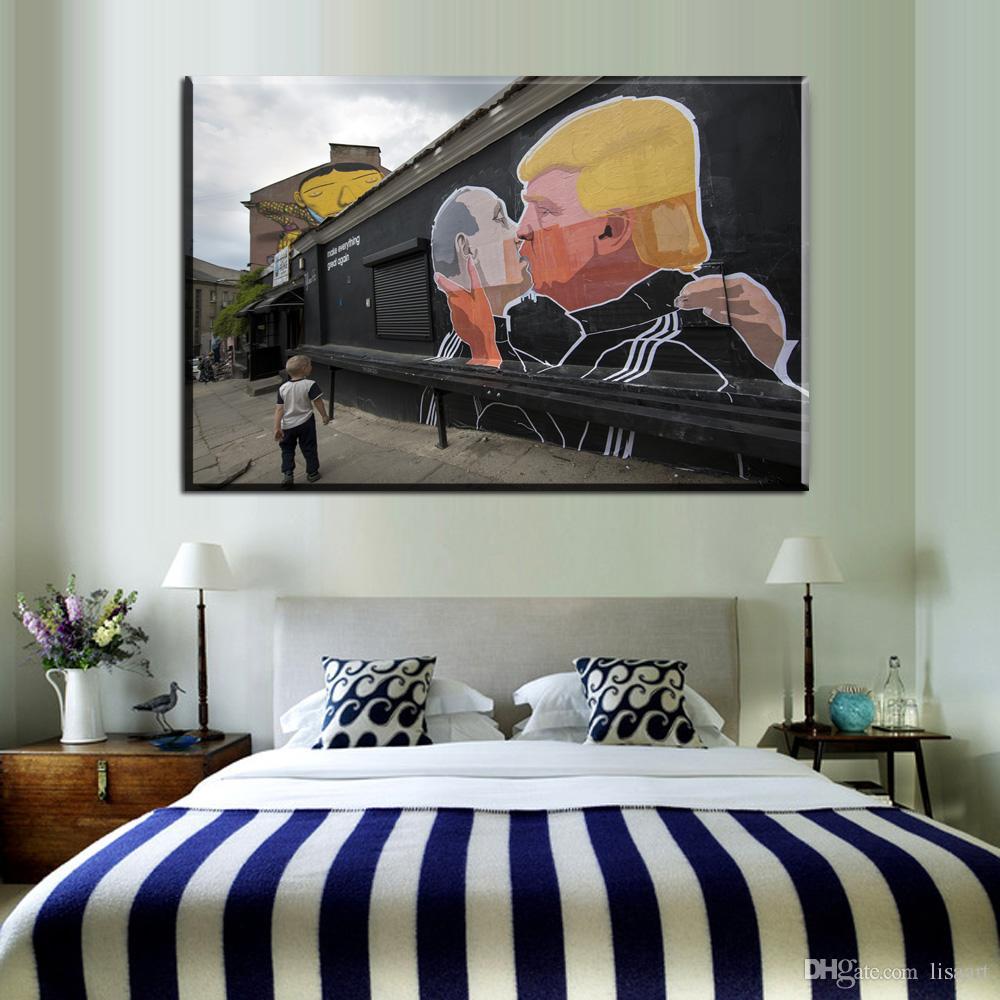 Großhandel ZZ86 Graffiti Leinwand Wandkunst Banksy Leinwand Bilder  Ölkunstmalerei Für Wohnzimmer Schlafzimmer Dekoration Leinwand Kunstdekor  Von ...