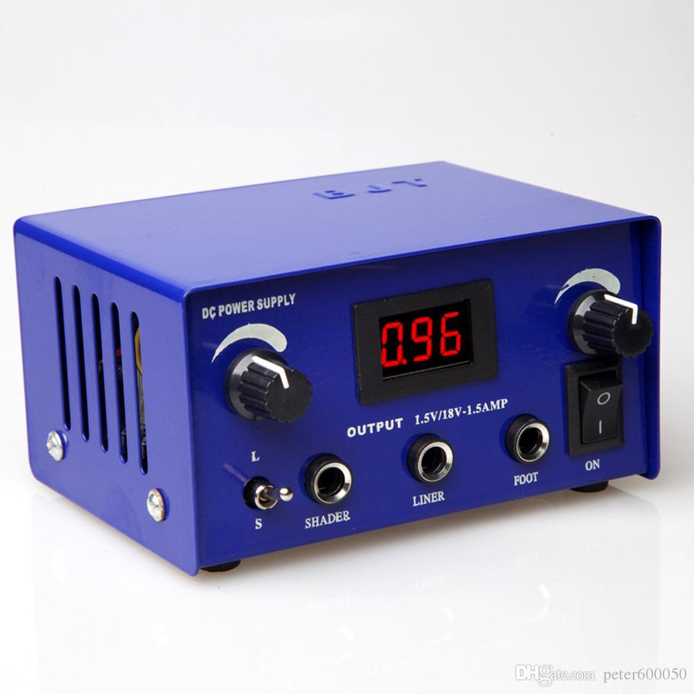 무료 배송 높은 품질 타투 전원 공급 장치 LED 문신 기계 총 전원 suply 잉크 바늘 키트