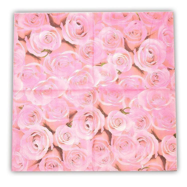 2018 Vintage Decoupage Paper Napkin Tissue Pink Rose Flower Color ...