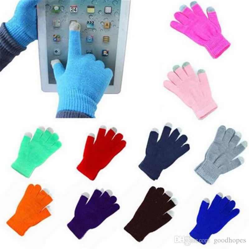 Magic Touch Screen Gloves Knit Wool Winter Warm Touch Glove Capacitive Screen Conductive Gloves For iPhone Samsung iPad Smartphone