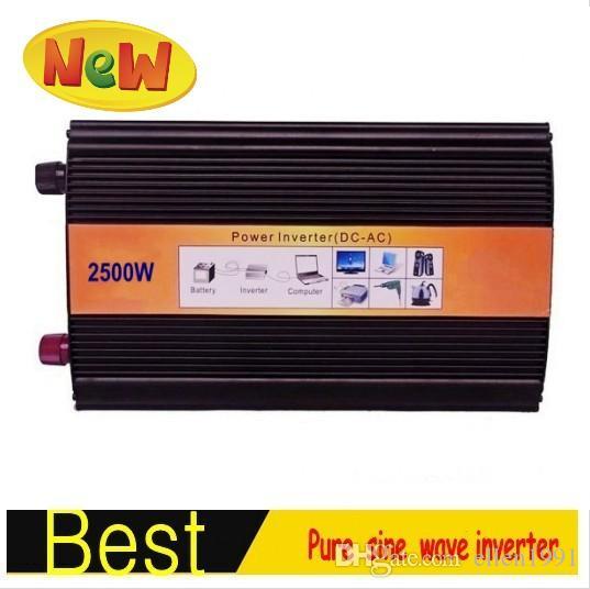 convertidor de potencia Inversor de onda sinusoidal pura 2500W pico 5000W Inversor de onda sinusoidal pura de 12V DC A 110 / 220V ~ 240V CA 2500Watt