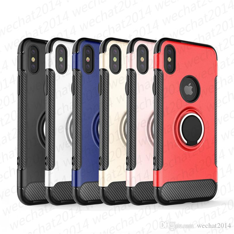 링 홀더 자석 자동차 홀더 충격 방지 아머 케이스 커버 아이폰 (11) 프로 맥스 X XR XS 최대 8 7 플러스 삼성 주 8 S8 S9 플러스 S10 플러스