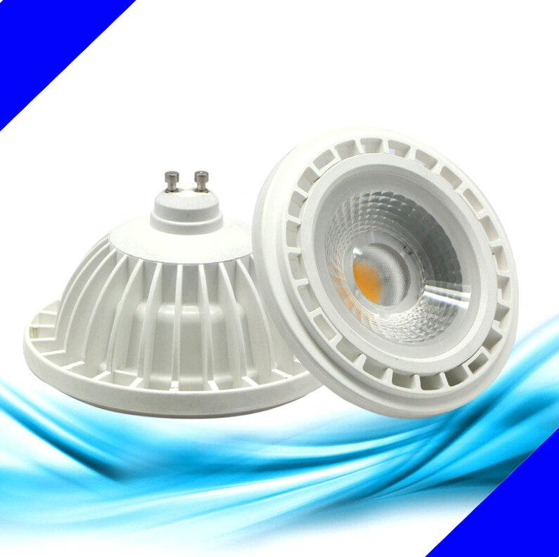 15W LED COB Bulb lamps GU10 QR111 ES111 AR111 G53 CE&ROHS 15W LED COB AR111 Bulb Spotlight Free shipping